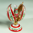 Limoges Chamart egg with tree and dove box