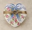 limoges herat ribbons and pink roses box