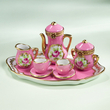Limoges pink roses tea set