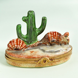 Limoges Artoria  armadillo with cactus box