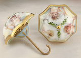 Limoges cherubs umbrella box