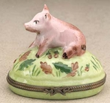 Limoges big pig box