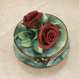 Limoges red roses box