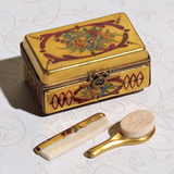 Limoges Chamart vanity bruch and comb set  box